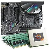 AMD Ryzen 5 2600X/ASUS ROG Strix X470-F Gaming Mainboard Bundle/32GB | CSL PC Aufrüstkit | AMD Ryzen 5 2600X 6X 3600 MHz, 32GB DDR4-RAM, GigLAN, 7.1 Sound, USB 3.1 | Aufrüstset | PC Tuning Kit