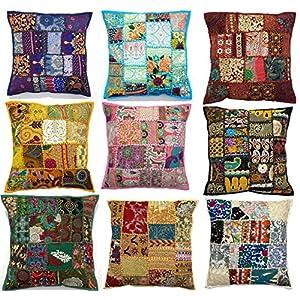 Luxbon Set of 6Pcs Colorful Spring Life Tree Decorative Cushion Cover 45cmx45cm
