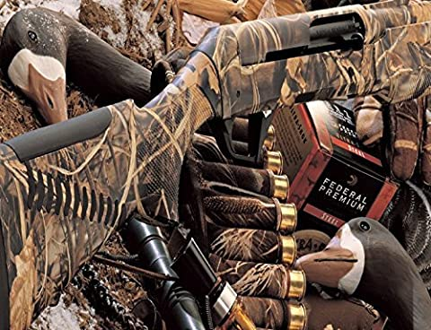 DUCK HUNTING CAMOUFLAGE SHOTGUN BULLETS DECOY IMAGE COMPUTER MOUSE PAD (Hunting Shotgun)