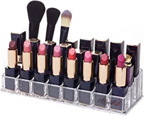 EKRON Acrylic 24 Grid Lipstick Stand, 22x9x5cm (Transparent) - Pack of 1