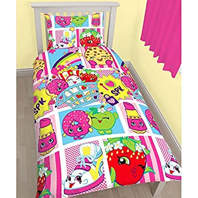 Shopkins Childrens/Kids Official Shopaholic Reversible Single Duvet Cover Bedding Set - inexpensive UK light store.