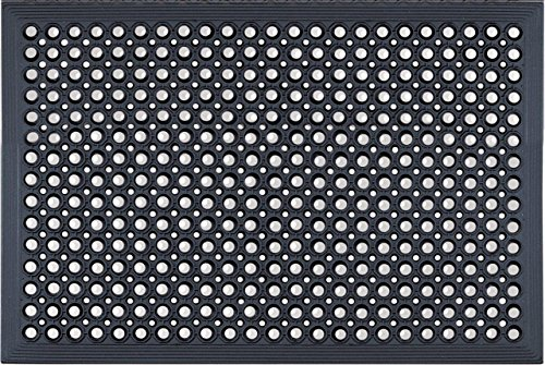 FRPL Rubber Anti Fatigue Hollow Mat - 60x90cm, Black