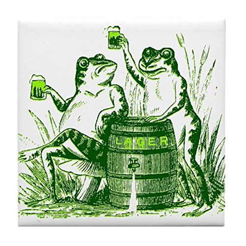 St Pattys Tag-t-shirts (CafePress-Drunk Frösche ST PATRICKS Tag-Tile Untersetzer, Drink Untersetzer, Untersetzer, Klein)