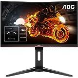 """AOC Monitor C24G1- 24"""" Curved 1500R Full HD, 144Hz, 1Ms, VA, FreeSync Premium, 1920x1080, 250 cd/m, D-SUB, HDMI 2x1.4, Displa"""