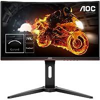 """AOC C24G1 Monitor Gaming Curvo da 24"""", pannello VA, FHD 1920 X 1080 a 144Hz, 1 Porta D-SUB, 2 porte HDMI, 1 porta Display, Tempo di risposta 1 msec, Nero"""