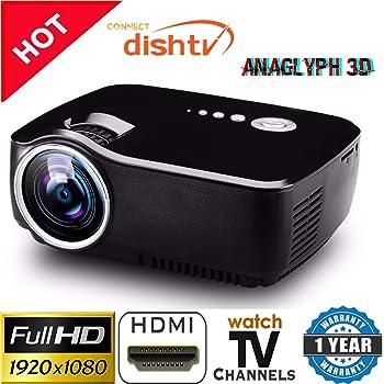 Vivibright LED 1080p Mini Portable Full HD 3D HDMI VGA USB TV SD LED Projector 800x600 Pixels (SVGA)