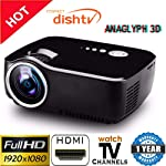 Vivibright LED 1080p Mini Portable Full HD 3D HDMI VGA USB TV SD LED Projector 800x600 Pixels (SVGA)