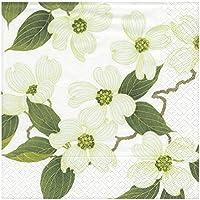 3ply flor blanco Cena de papel Servilletas 40cm 20 por paquete
