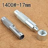 Outils de pose de rivets pour cuir et tissu 20 œillets avec rondelle inclus, 1400#-17mm