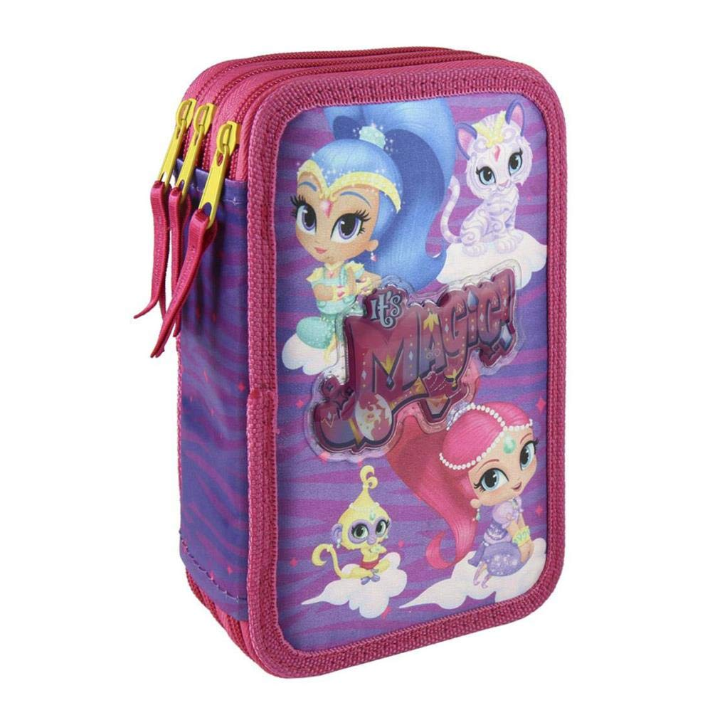 ESTUCHE PARA LÁPIZ SHIMMER Y BRILLO MAGIC NICKELODEON COLOREADO 3 CREMALLERA 7x15x22 cm BISAGRAS COMPLETO ACCESORIOS…