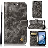 Asus ZenFone 4 Max ZC554KL Flip Cover, Case, Danallc PU Leather Card Slot [Stand Feature] Leather Wallet Case Vintage Book Style Magnetic Protective Cover Holder For Asus ZenFone 4 Max