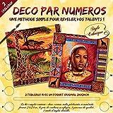 Deco von Numero Malen nach Zahlen 24x 24cm Farblich Sortiert Erinnerungen an Afrika 24 x 24 cm farblich sortiert