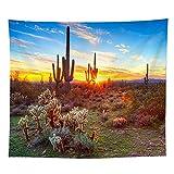 DGNG Tapisserie Tropische Wüste Kaktus Blume Wandbehang Wanddekoration Böhmen Badetuch Schal,#3,200 * 150Cm/78 * 59In