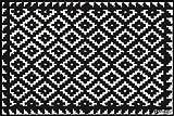 Salonloewe Fußmatte waschbar Tabuk Black & White 50x75 cm SLD0616-050x075