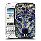 Head Case Designs Wolf Kritzel Tiergesichter Snap-on
