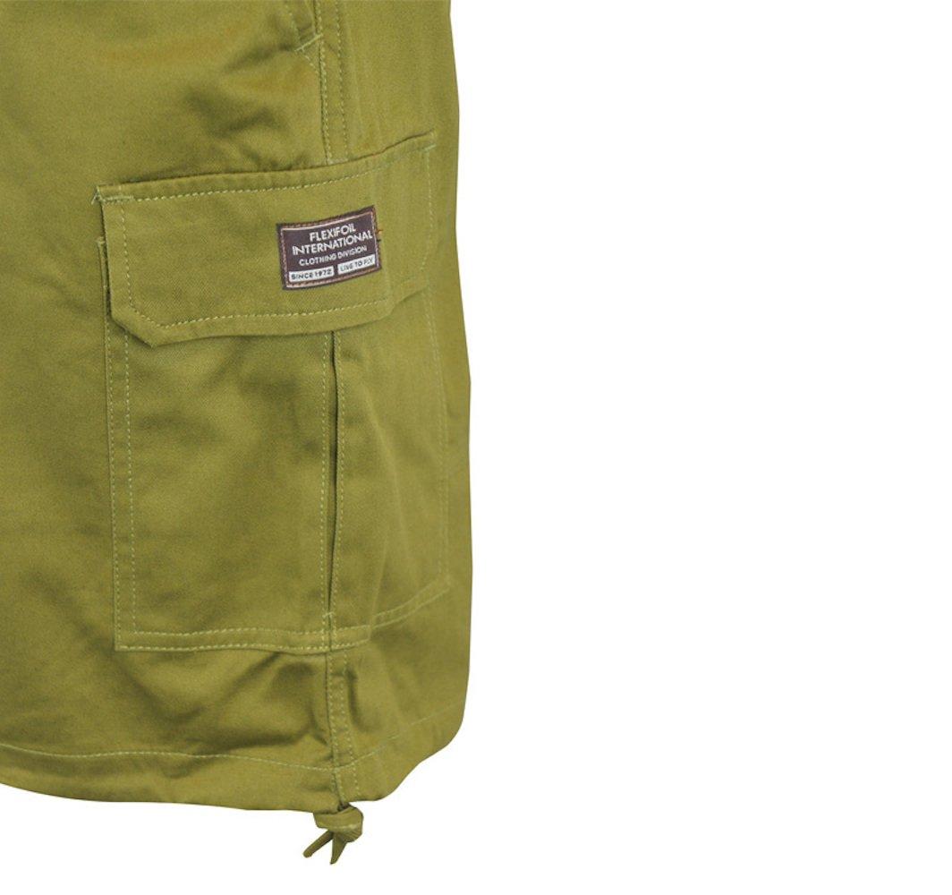 Flexifoil Men's Premium Quality Green Eddy Casual Shorts