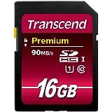 Transcend TS16GSDU1 SDHC 16 GB Minneskort, 90 MB/s, Svart