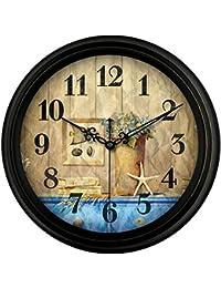 estilo europeo salón retro reloj de pared de silencio antiguo Reloj de pared colgante American Table