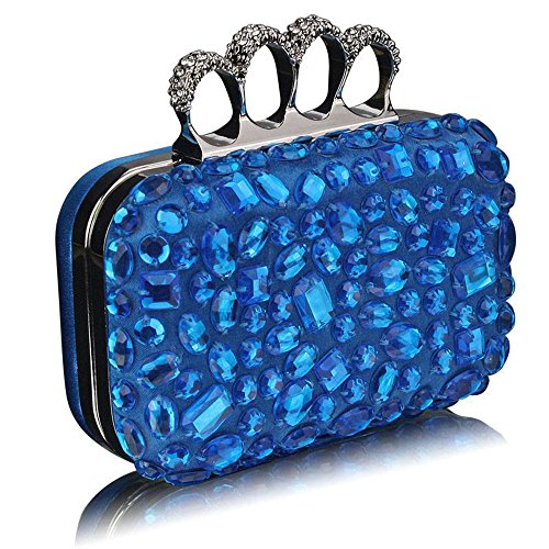 TrendStar Damen Kupplungs Taschen Damen Berühmtheit Stil hart Fall Kupplungs von Boc Handtaschen Teal