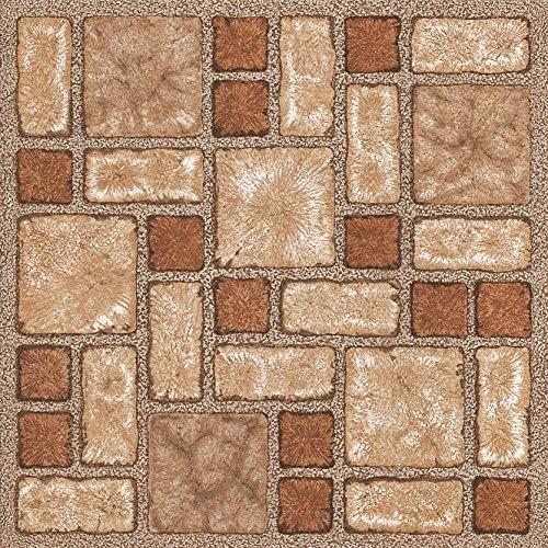 4 x Vinyl Floor Tiles - Self Adhesive - Bathroom / Kitchen Flooring - Brand New (Brown Mosaic (188))