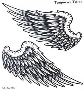 faux tatouages vente chaude la mode de grandes ailes d. Black Bedroom Furniture Sets. Home Design Ideas