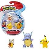 Pokémon Battle Figuren 3-Pack | Pikachu Wartortle & Cubone 5 cm | Nieuwste Series 2021 | Officieel Gelicentieerd Door Pokemon