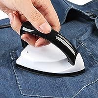 Jago - Plancha de viaje con mango plegable - mini plancha de hierro - peso: aprox. 175 g – color blanco