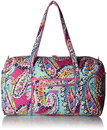 Vera Bradley Damen Iconic Large Travel Duffel, Signature Cotton kultige, große Reistasche, charakteristisch, Baumwolle, Wildflower Paisley, Einheitsgröße -