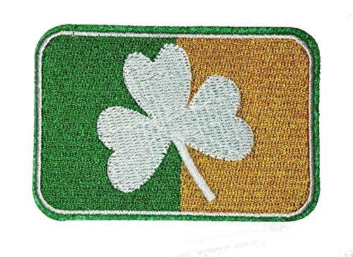 Choppershop Parche bordado planchar bandera Irlanda