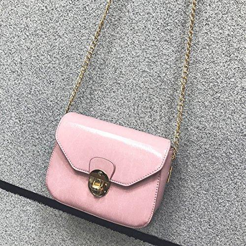 Kette Kleine Quadrat Paket Mode Weibliche Paket Öl Freizeit Messenger Schulter Schulterdiagonalpaket Rosa