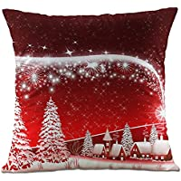 Hangood Soft Plush Throw Pillow Case Cushion Covers Christmas Tree 18 x 18 inches