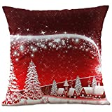 Hangood Soft Flannel Throw Pillow Case Cushion Covers Christmas Tree 18 x 18 inches