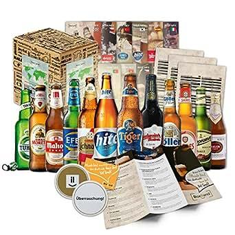 BOXILAND – Bier-Geschenk-Box mit 12 verschiedene Bier-Sorten (12 Biere x 0,33l)