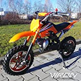 Pocketbike 49cc Enduro Pocket Cross Bike Mini Motorrad Minibike Dirtbike (orange)