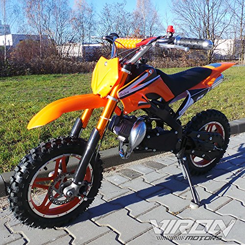 Viron Pocketbike 49cc Enduro Pocket Cross Bike Mini Motorrad Minibike Dirtbike (orange)