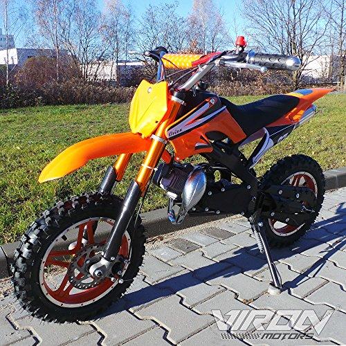 Viron Pocketbike 49cc Enduro Pocket Cross Bike Mini Motorrad Minibike Dirtbike (orange)