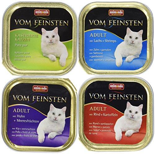 Animonda vom Feinsten Katzenfutter Adult Mix 2 Fisch & Fleisch aus 4 Varietäten, 32er Pack (32 x 100 g)