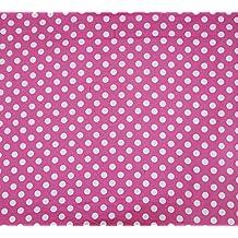"""Lunares Impreso rosa Diseñador de algodón ligero Tela 43 """"Wide Tela Per Yard"""