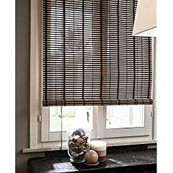400/2 Estor 150 x 300 cm con listones de bambú de 20 mm, cierre con polea, decoración del hogar