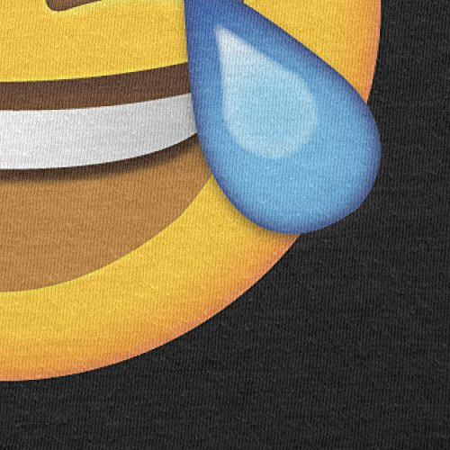 TEXLAB - Tears of Joy Emoji - Damen T-Shirt Schwarz
