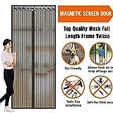 M&K Écran magnétique Porte Blindée Écran de Portes de Maille Porte moustiquaire en Fibre de Verre Mains Libres,Pet Friendly-A 120x210cm(47x83inch)