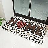 Comficent Entrada Alfombra de Suelo Felpudo Antideslizante con Estampado de Piedras para Inodoro, jardín,Puerta,Antideslizante, (Hogar)