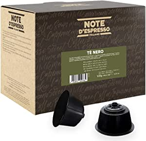 Note D'Espresso Tè Nero Capsule esclusivamente compatibili con macchine Nescafé* e Dolce Gusto* 120 g (48 x 2.5 g)