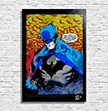 Arthole.it Batman Gotham City, Dc Comics - Quadro Pop-Art Originale con Cornice, Dipinto, Stampa su Tela, Poster, Locandina