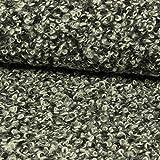 Stoffe Werning Wollstoff Schlingenware schwarz grau weiß