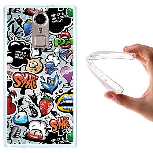 WoowCase Doogee F5 Hülle, Handyhülle Silikon für [ Doogee F5 ] Coloriertes Graffiti Handytasche Handy Cover Case Schutzhülle Flexible TPU - Transparent