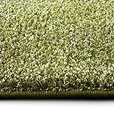 casa pura Shaggy Teppich Bali | Weicher Hochflor Teppich für Wohnzimmer, Schlafzimmer und Kinderzimmer | mit GUT-Siegel | Verschiedene Größen | viele Moderne Farben (80 x 150 cm, grün)