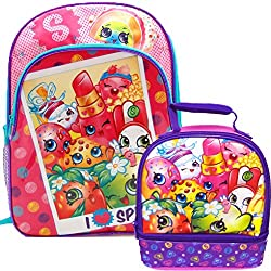 Shopkins 16 Large School Backpack and Lunch Bag Box Set for Back to School