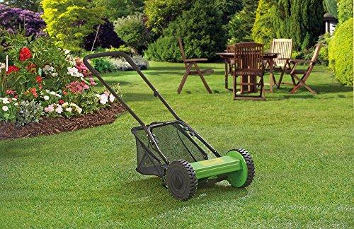 Garden Gear Push Along Manual Cylinder Lawn Mower with 17L Grass Bag Cutting width