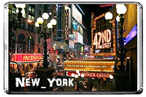 E196 42ND STREET, NEW YORK KÜHLSCHRANKMAGNET USA TRAVEL PHOTO REFRIGERATOR MAGNET 42nd Street Photo